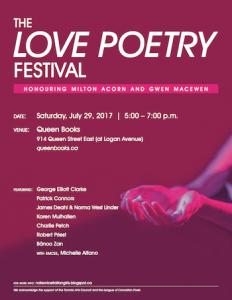 Love Poetry Festival poster