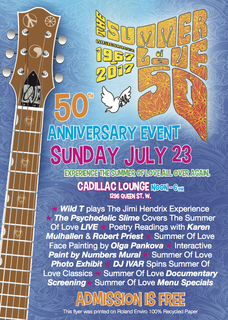 Summer of Love Ebent Flyer - July 23, 2017 - Cadillac Lounge