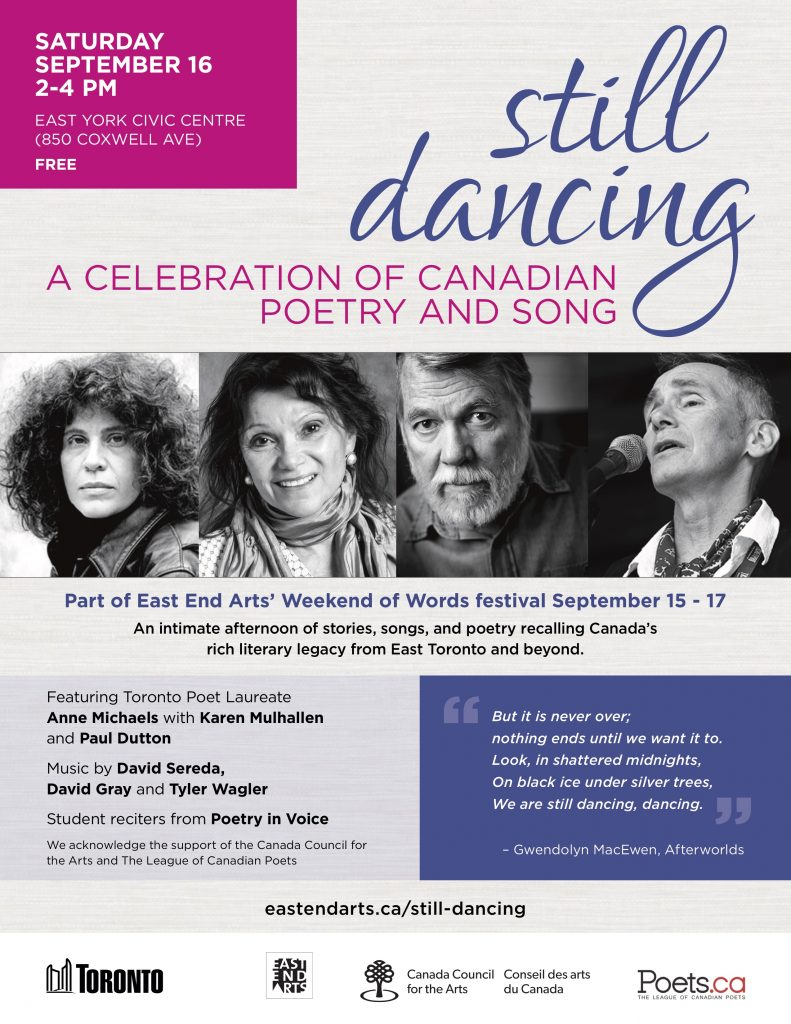 Still Dancing poster: A celebration of Canadian Poetry & Song