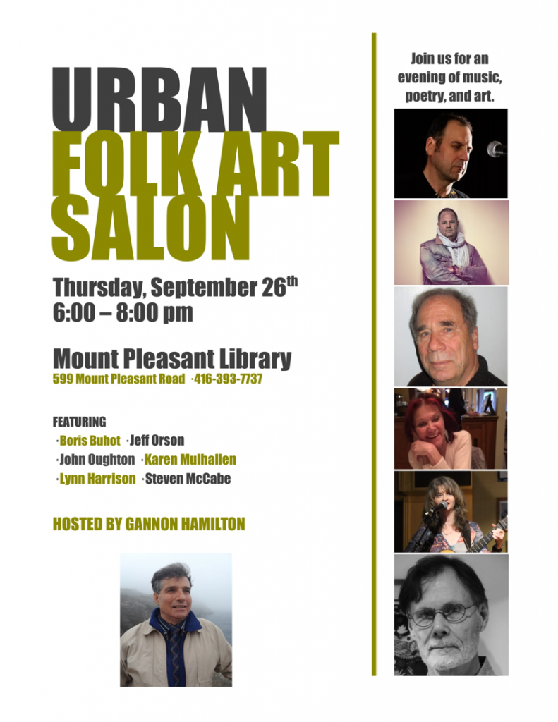 Urban folk art salon poster - September 26, 2019