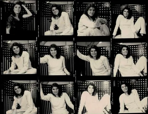Photos of author by Michel Verreault, 1980 - contact sheet