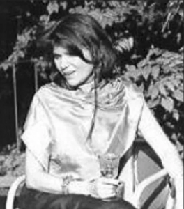 The author in purple silk shawl, late 1990s