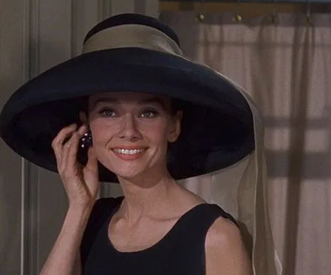 Audrey Hepburn, screenshot from trailer for Breakfast at Tiffany's