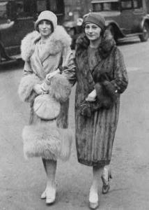 Two women in fur coats