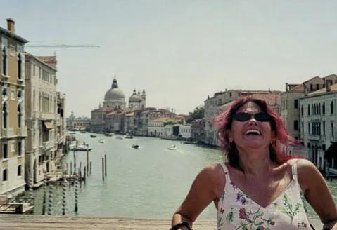 In Venice, wearing Betsey Johnson dress, 2005