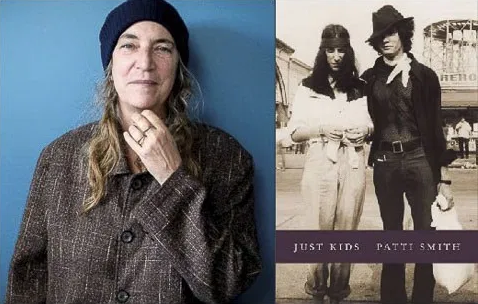 Patti Smith and cover of her book Just Kids
